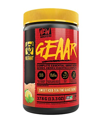 Mutant 9.4g of EAA Powder + Arginine, 7g BCAAs, 4g Leucine, Electrolytes, Coconut Water, No Artificial Colours or Flavours, Delicious Taste - 30 servings - Sweet Iced Tea - 378g
