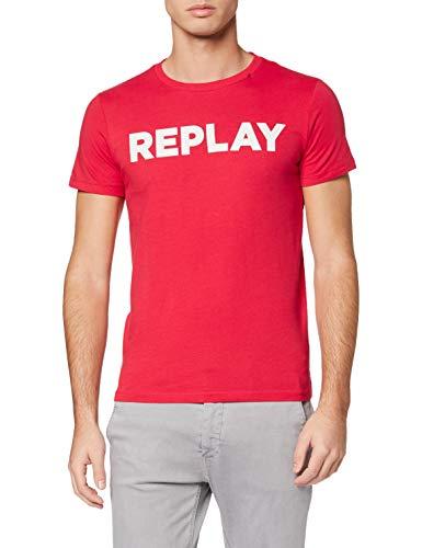Replay Herren M3594 .000.2660 T-Shirt, Rot (Poppy Red 555), XXX-Large (Herstellergröße: XXXL)