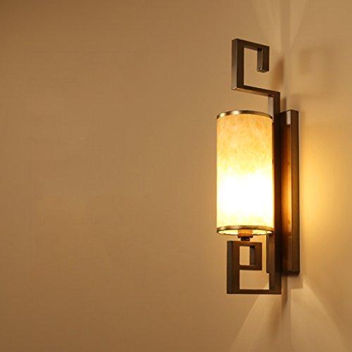 Applique murale Living Room Aisle rétro lampe de mur chinois (couleur : Marron)