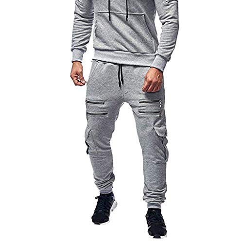 serliy😛Herren Hose Patchwork-Farbe Pants Jogginghose Sport Fitness Trainingshose Slim Fit Sweatpants Jogging-Hose Trainingshose Jogger Fitness Sport Joggerhose Stoffhose