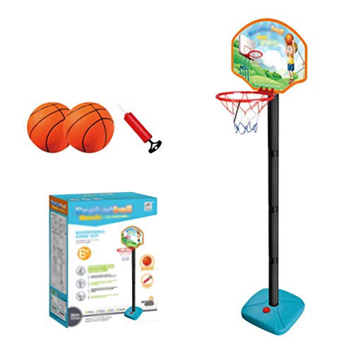 YuanDian Kinder Basketballkorb Portable Verstellbarer Basketballbrett 110-175cm Basketballständer Drinnen Outdoor Garten Freistehend Mini Basketballkörbe Boards Basketballanlage Set 125cm 2 Balls
