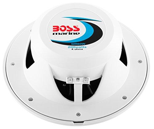 BOSS Audio Systems MR60W 200 Watt Per Pair, 6.5 Inch, Full Range, 2 Way Weatherproof Marine Speakers Sold in Pairs
