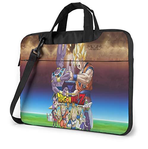 Dragon Ball Z 13 Inch Laptop Bag, Slim Computer Messenger Shoulder Briefcase with Zipper and Pockets, Laptop Sleeve Shoulder Bag for Women and Men, Anime Saiyan Handbag