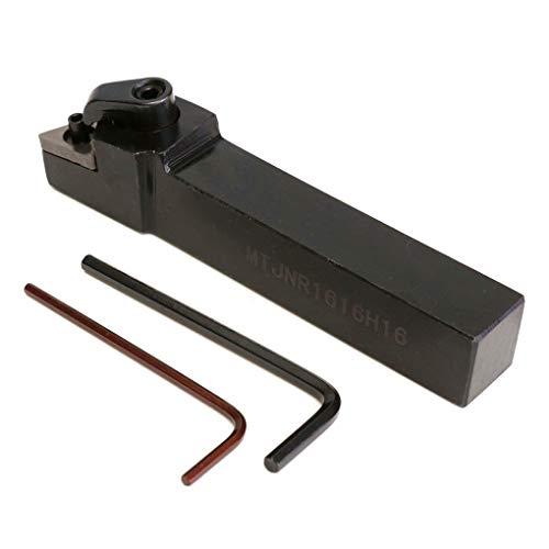 Guangcailun 3pcs MTJNR1616H16 16x100mm Lathe Index Drehen Werkzeughalter Schlüssel Ersatz für TNMG 1604 einfügen
