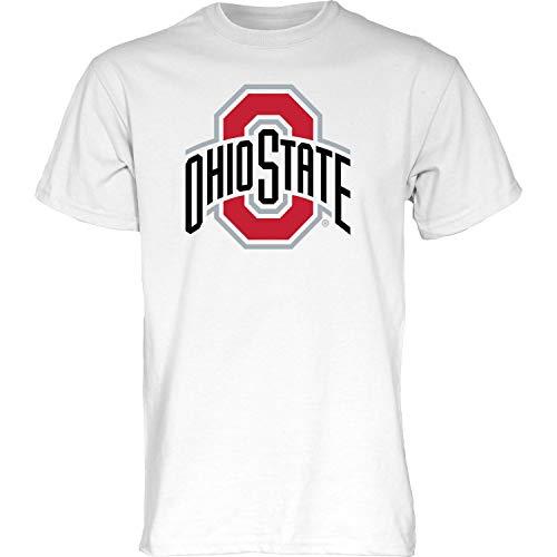 Blue84 NCAA Ohio State Buckeyes Mens T Shirt White Icon, Ohio State Buckeyes White, Large (TSGI_ICON_WHT)