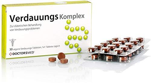 Verdauungs Komplex | Natürliche Verdauungs Tabletten | gegen Magenschmerzen, Bauchkrämpfe, Völlegefühl | Verdauungsfördernd Reizdarm Kapseln | Hergestellt in Österreich von AGEPHA Pharma