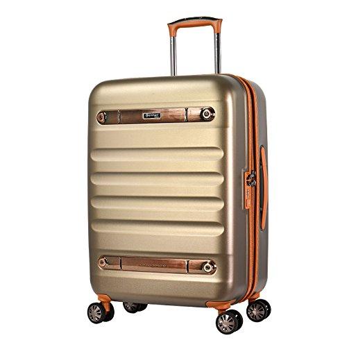 Eminent Koffer Gold Nostalgia 66 cm 73 L Polycarbonaat harde Schaal 4 stille dubbele wielen TSA-slot Champagne