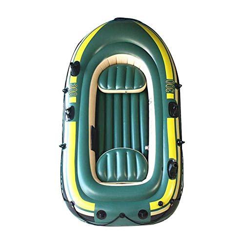 LeKu Schlauchboot,3 Personen Ausflugsboot mit Luftventil und 2 Rettungsleinen zum Angeln,Driften,Tauchen,Explorer,230x130x36 cm