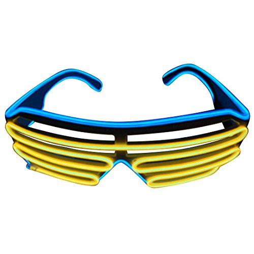 1 pièce - Une paire de lunette persienne LED - Tendance - Deux couleurs d'éclairage