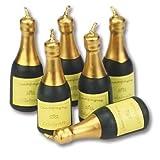 Staedter Bougies en Forme de Bouteille de Champagne, Vert, 6pièces
