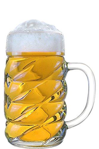 STÖLZLE LAUSITZ - Boccale da birra in vetro Diamond da 1 l – originale boccale da birra I Oktoberfest | Design moderno | Set da 6 pezzi | Lavabile in lavastoviglie | Qualità tedesca