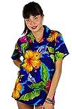 V.H.O. Funky Camisa Hawaiana, BigFlower, Blue, XS