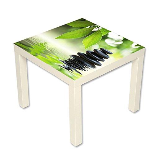 B-wie-Bilder.de bijzettafel salontafel met motief natuurstenen in het water Zen wit