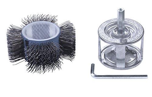 kwb Agresso Schleifbürste für Bohrmaschine, gekröpfte Form mit 110 mm Durchmesser, Rundbürste ideal für Reinigungs- und Schleifarbeiten, Made in Germany