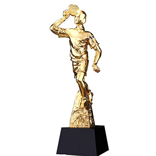Trofeos Competencia Deportes Ping Pong Campeón Oro Premios Deportes Escuela Recuerdo Aumentar La Base De (Color : Gold, Size : 29 * 8cm)