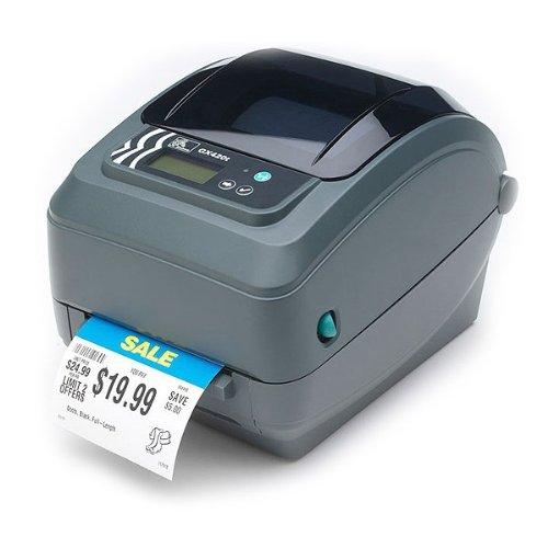Zebra GX420t - Impresora de Etiquetas (203 dpi, RS232/USB/Parallel, 8 MB SDRAM, 4 MB Flash), Color Gris