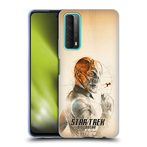 Head Case Designs sous Licence Officielle Star Trek Discovery Saru Grunge Personnages Coque en Gel Doux Compatible avec Huawei P Smart (2021)