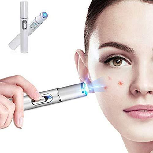 Tianbi Pluma de Eliminación de Cicatrices de Acné Facial Pluma de Terapia de Luz Azul Barra de Tratamiento de Terapia de Luz para Cicatrices Ojos Hinchados Pluma de Eliminación de Ojeras