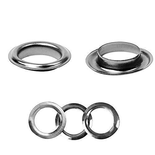 Trimming Shop 30mm Ösen Ringe mit Scheiben - Perfekt für Leder Handwerk, Vorhänge, Vorhänge und PVC Banner - Rotguss Schwarz, 25 Pcs
