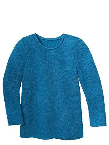 Disana Langarm-Pullover Sommerkollektion (86/92, Karibikblau)