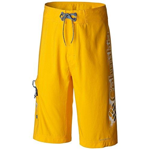 Columbia Sportswear Men's PFG Logo Board Shorts, Stinger/Steel, 30 x 11