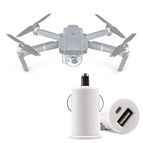 DURAGADGET Cargador De Coche USB Compatible con Dron Blade 350 QX3 / dji Mavic Pro Fly/Hubsan X4 H501S Brushless, X4 H502C, X4 H502E Desire, X4 H502S FPV Desire/Parrot Bebop 2 Explorer