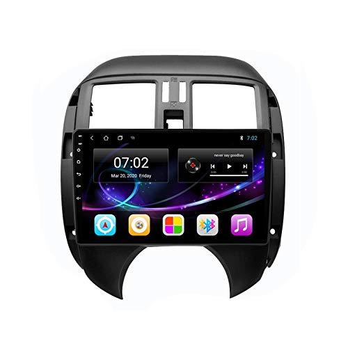 2 DIN Car Stereo HD Pantalla Táctil Soporte Llamadas Manos Libres/BT/Navegación GPS/Cámara De Visión Trasera/1080P Video, para Nissan Versa 2010-2013 Radio De Coche,Octa Core,4G WiFi 4+64