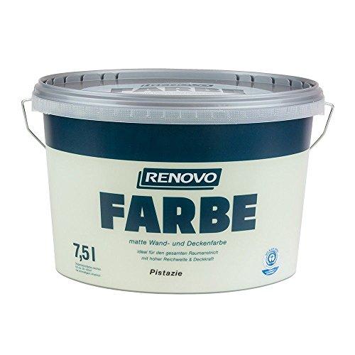Farbe Pistazie 6527 7,5 L Wand- und Deckenfarbe RENOVO