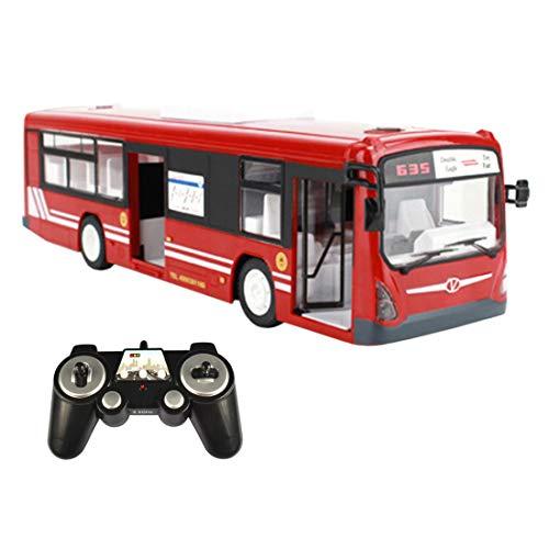 POXL RC Autobús Teledirigido, 2.4G Teledirigido Vehículo City Express Coche con Luz y Sonidos para Niños Adultos