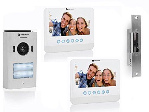 Set: twee-parent deurintercom met camera, 7 inch LCD-scherm en deuropener