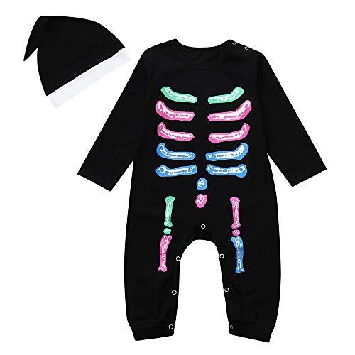 Snakell Halloween kostüm Kinder Halloween kostüm Kinder kostüm Halloween Kinder Halloween kostüm Baby Halloween kostüm Kleinkind Baby Mädchen Jungen Knochen Strampler Overall Kostüm Outfits