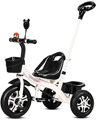 PSHHLBR Triciclo para Niños,Triciclo para Niños con Campanas Y Espejos Pequeños,Cochecito De Bebé con Manija De Empuje De Los Padres, Bicicleta De Pedales para Cochecito De Bebé De 3 A 6 Años