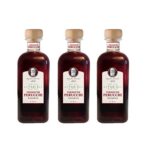 Vermouth Perucchi Reserva – Pack 3 botellas – Elaborado en España – 15% Alcohol – Misma receta que Perucchi Gran Reserva – Selección vins&co barcelona – 1000 ml