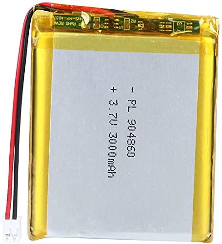3.7V 3000mAh 904860 Batería de Litio Recargable de polímero de Litio Lipo con Conector JST-4 Piezas