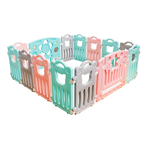 For Sale! YERWLAN Baby Play Fence, Plastic Baby Fence, Portable Indoor Crawling Home Children's Fenc...