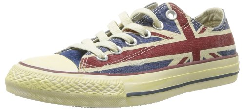Converse, All Star Ox Canvas Graphics, Sneaker, Unisex - Adulto, Multicolore (UK Flag Distressed), 36