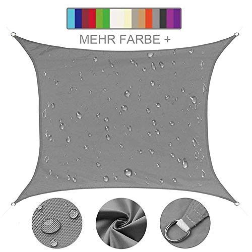 Giardino Parasole per Esterni Anti-Raggi UV con Borsa MVPower Tenda a Vela 2x4m Rettangolo Sabbia Cortile Telo da Sole in HDPE
