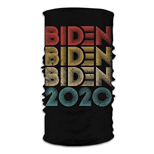 Lawenp Biden Biden Biden Vintage Joe Biden Unisex Microfiber Face neck Bandana Neck Gaiter Balaclava Reusable Breathable Cover Scarf for UV Sun Dust Protection Black