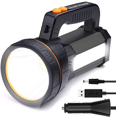 Linterna LED Recargable, 7000 Lúmenes 6600mAh Linternas Alta Potencia Súper Brillante Farol...