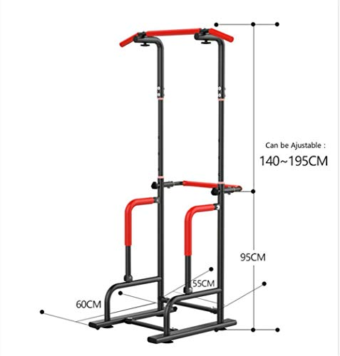 DIY Wood Crafts Science Experiments Adjustable Height Multi-Functional Pull-ups Station Fitness Slimming Equipment Indoor Horizontal Bar DIY Kits for Adults Science Kits (Color : Black)