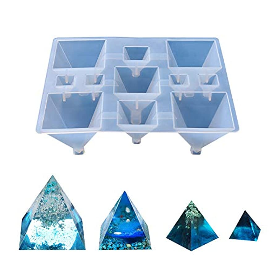 Silicone Pyramid Molds for Resin Casting, Jewelry Making, Aromatherapy Candle Making and Crafting Projects 11 Holes