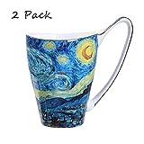 Ceramic Mug Funny mug, Tea cup Coffee Cup 16 oz for Kitchen, van gogh art mug (The Starry Night Pattern)
