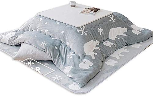 DJRH Coffee Tables Japanese Kotatsu Table with Heater and Blanket Tatami Heated, Japanese Futon Set,...