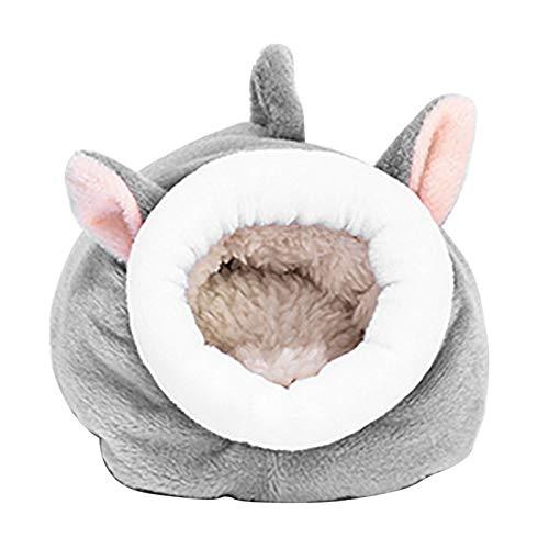 ZDYS Pequeña casa de invierno para mascotas, multifuncional, cálida cama nido de...