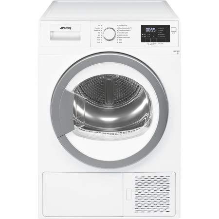 Smeg DHT71EIT-1 Libera installazione Caricamento frontale 7kg A+ Argento, Bianco asciugatrice