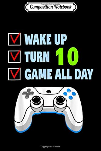 Composition Notebook: 10 Years Old Boy Gamer Birthday Party 10th Birthday Gift  Journal/Notebook Blank Lined Ruled 6x9 100 Pages