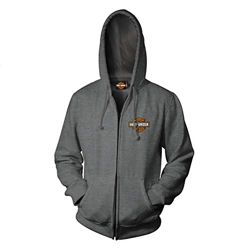 HARLEY-DAVIDSON Military - Men's Zip Hoodie - Overseas Tour | Military Skull Text