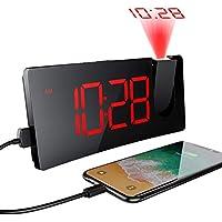 Mpow Despertador Proyector, Despertadores Digitales con Puerto USB, Pantalla LED de 5