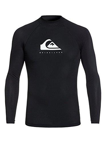 Quiksilver Heather Lange mouwen Snel Dry Licht Rash Vest Top Black - Zonwering - Snug Fit - polypropyleen - stof