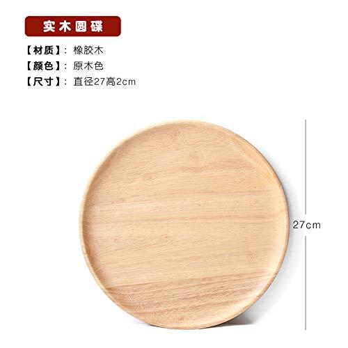 GYHJG HolzpaletteHolzgeschirr Massivholz Teller Set Japanischer Stil Teller Hotel Abendessen Teller Holzschale Holzteller Holztablett
